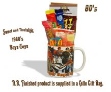 1980's Boys Toys Mug Mug  with or without a Choc selection of 80's themed sweets.